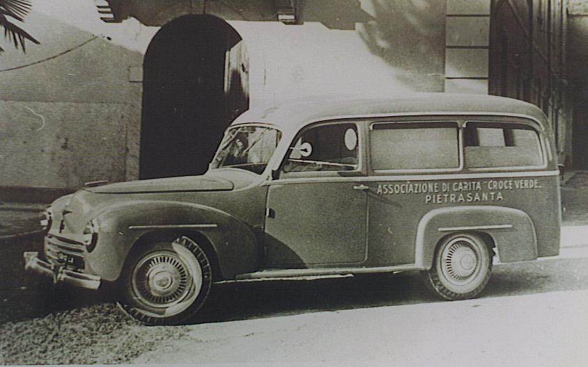 Foto 03: la Fiat 1100BLR del 1949, opera della Carr. Schieppati di Milano – foto ASCVP