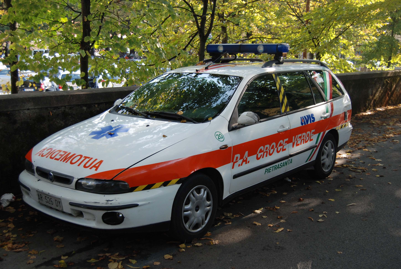 Fiat Marea W.E., interessante esperimento di automedica reso però di fatto impraticabile a causa dell'assunzione diretta dell'ASL 12 Viareggio di questo servizio – foto Alberto Di Grazia