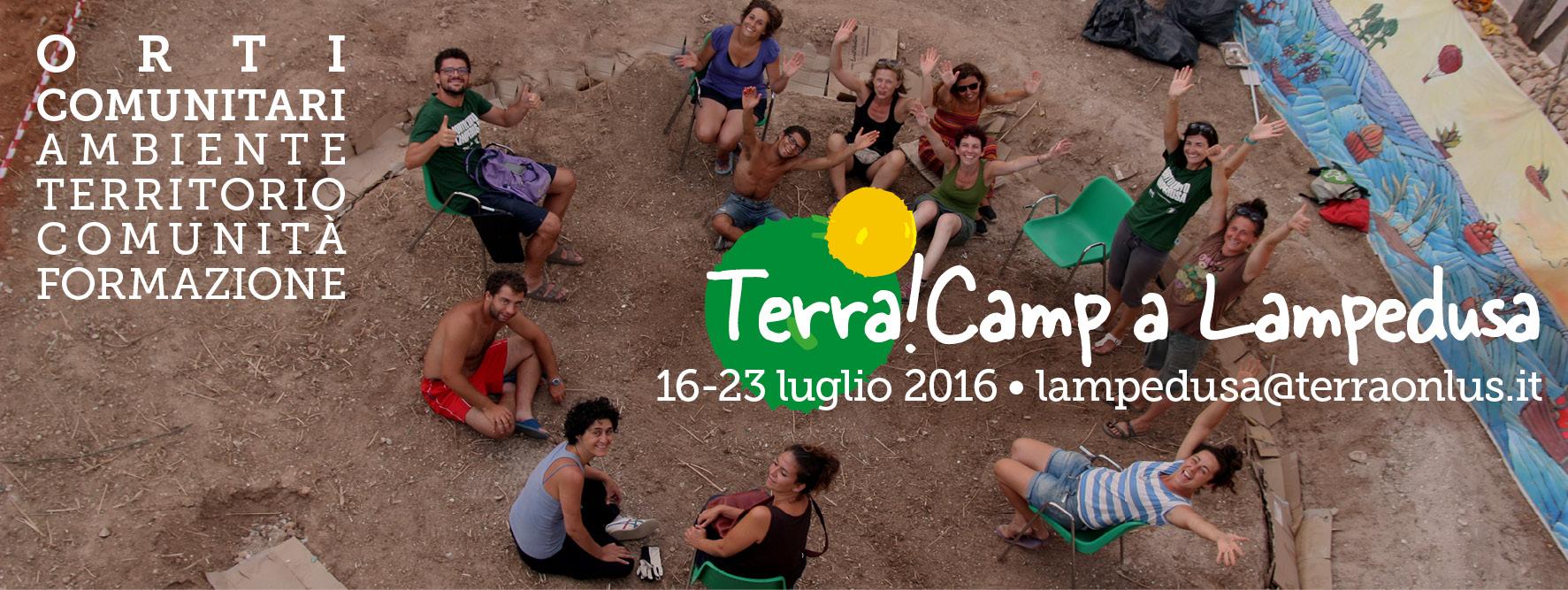 Volontariato sociale, aperte le iscrizioni al campo estivo a Lampedusa con Terra!Onlus