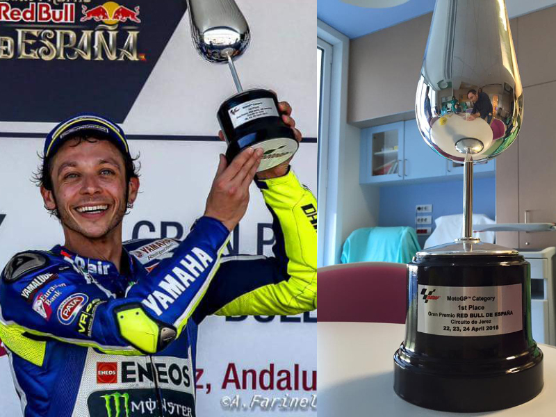 Storie belle: Valentino Rossi, la coppa di Jerez e un bimbo malato con un sogno da realizzare