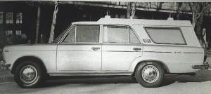 """Foto 08: la Fiat 125 Special di Boneschi negli anni '70 aveva ancora qualche freccia nel proprio arco specialmente se acquistata da associazioni di località distanti dagli Ospedali e per le quali correre era ancora una necessità. – Foto dal libro """"Carrozzeria Boneschi"""" di S. Puttini –Giorgio Nada Editore, 1989"""