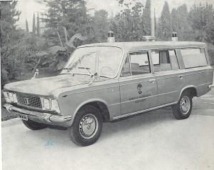Foto 21: F.lli Mariani per la Misericordia di Pontassieve (FI); Fiat 125 nella prima versione di questo allestitore -foto da depliant