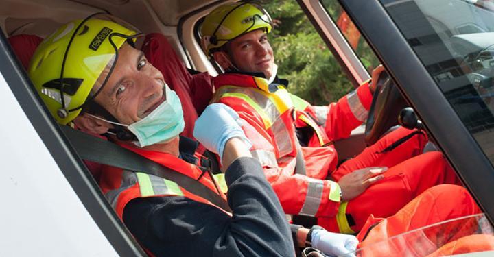 Exposanità, corso di guida sicura in pista con Anpas e EDM Ambulanze
