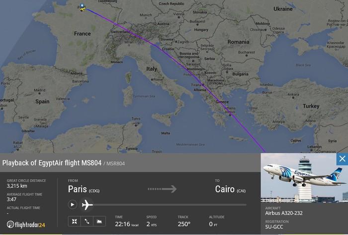 Scompare aereo in volo da Parigi a Cairo