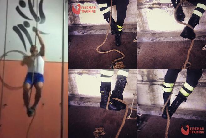 FIREMAN TRAINING – I fondamentali del Vigile del Fuoco: salita della fune con la tecnica dello scalino
