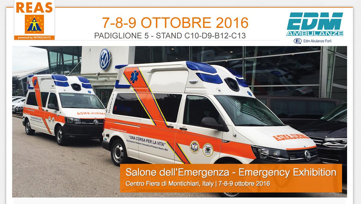 Anteprima EDM: Nuova versione del Volkswagen T6 al Salone dell'Emergenza REAS 2016