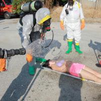 decontaminazione sanitaria speditiva di una vittima