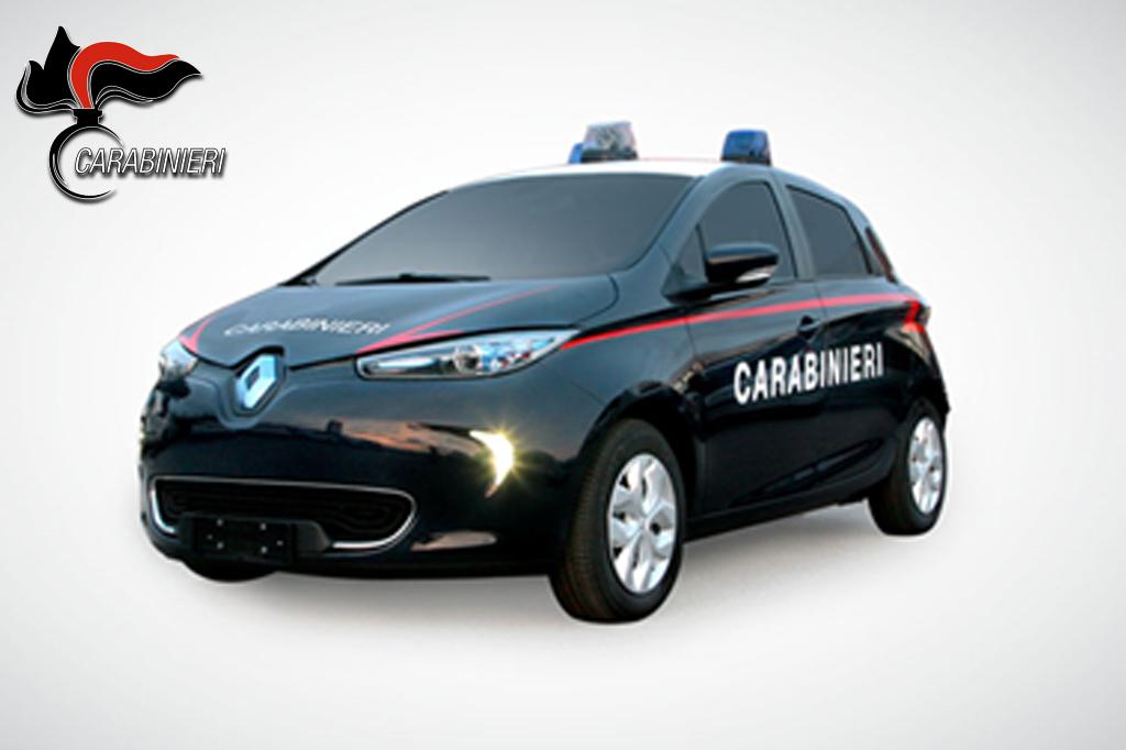 SICUREZZA – l'Arma dei Carabinieri si converte all'elettrico. In arrivo la Renault ZOE e la nuova Fiat Punto