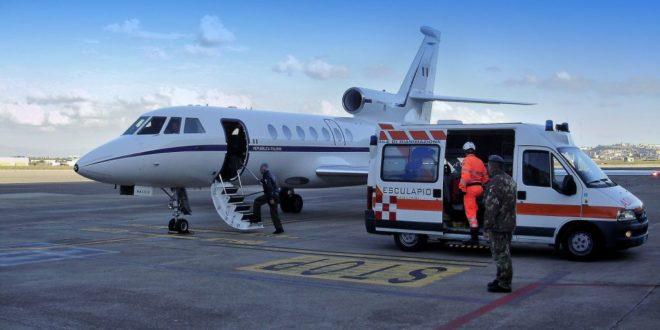 Volo salva-vita dell'Aeronautica Militare Olbia-Milano per un Sardo in pericolo di vita