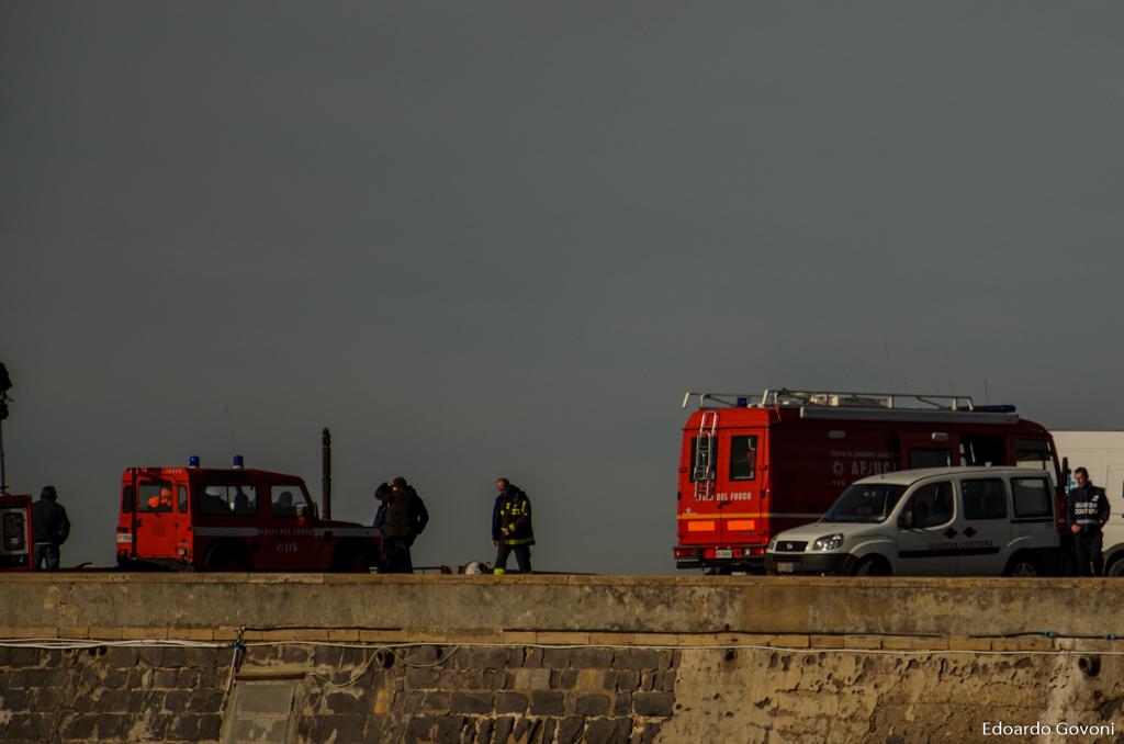 REPORT - Le operazioni di disincaglio della SIGMA di fronte all'Ardenza di Livorno | Emergency Live 8