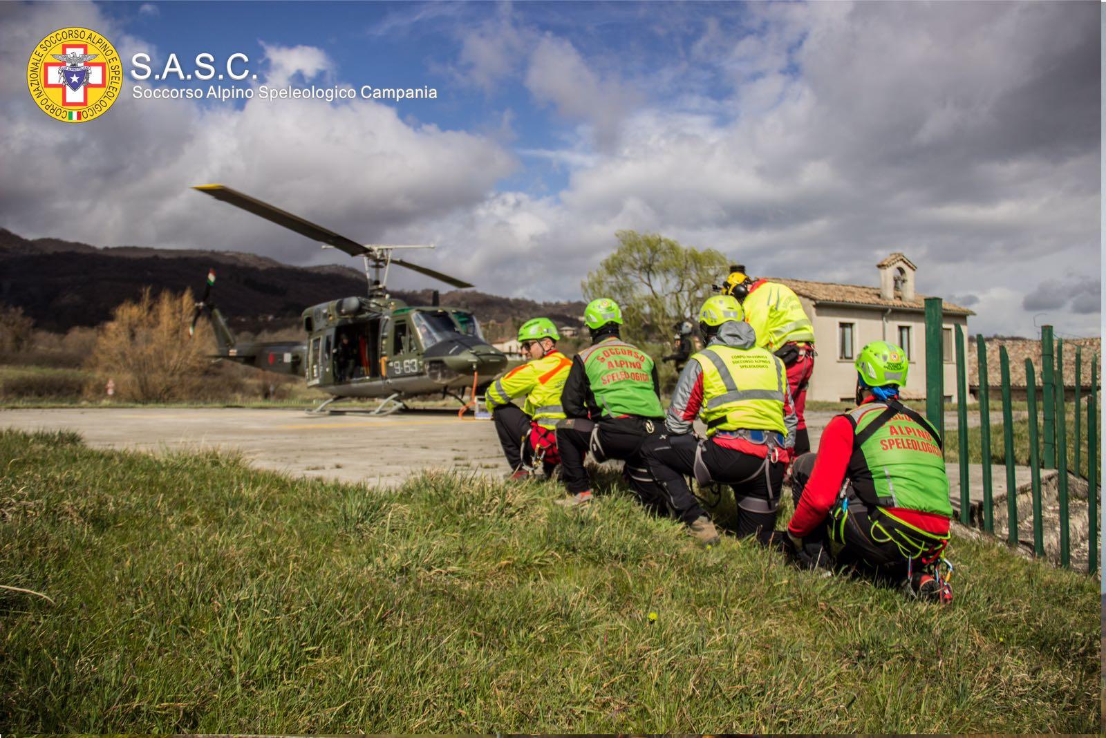 CNSAS Servizio Regionale Campania: esercitazioni con Aeronautica Militare