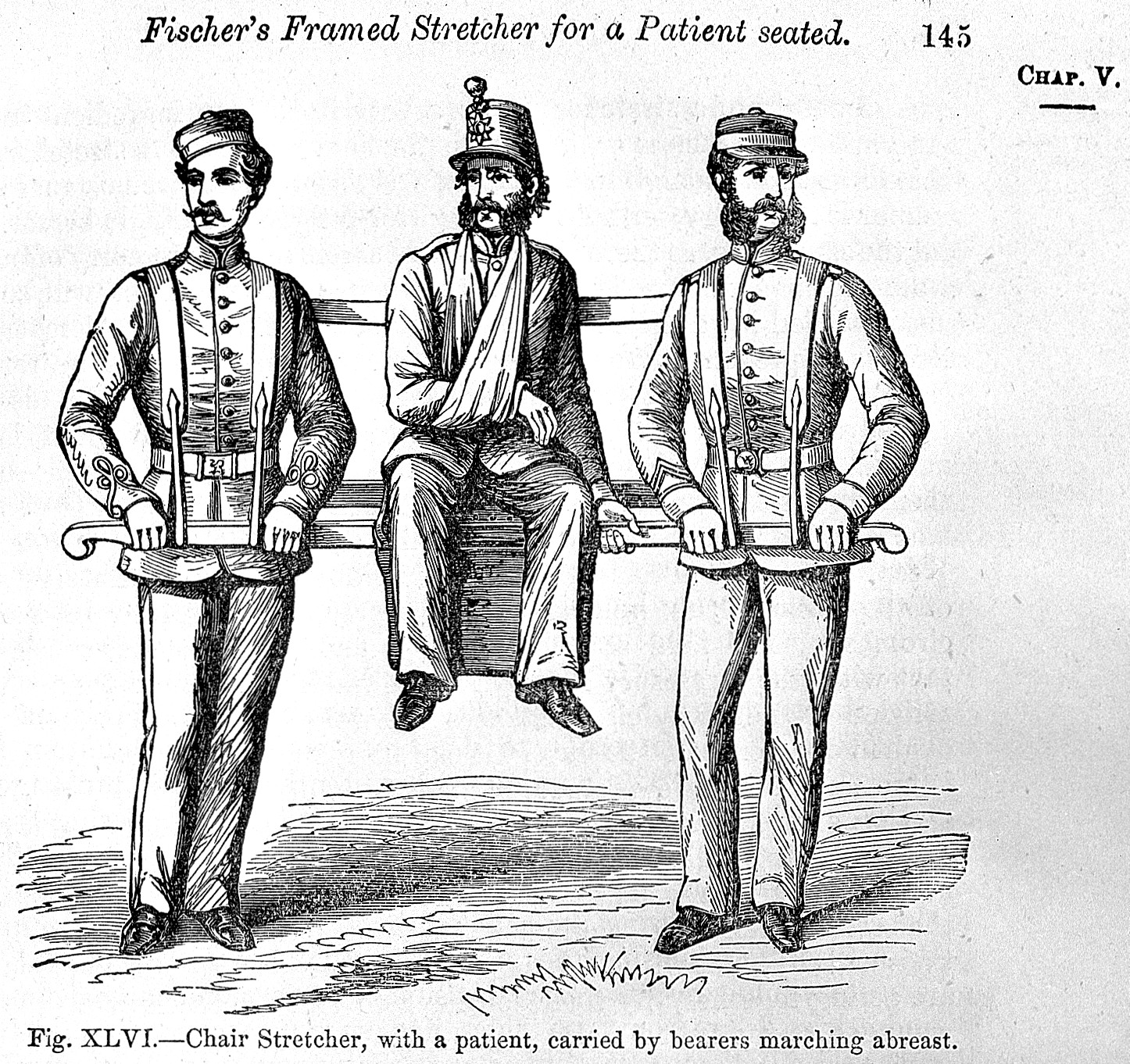 L0002114EA Fischer's Chair Stretcher 1865