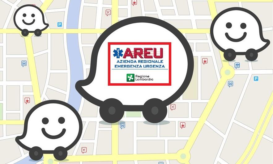 All'AREU 118 Lombardia arriva Waze, l'app per evitare il traffico