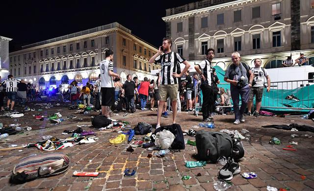 Champions League Final; panic scenes in Turin