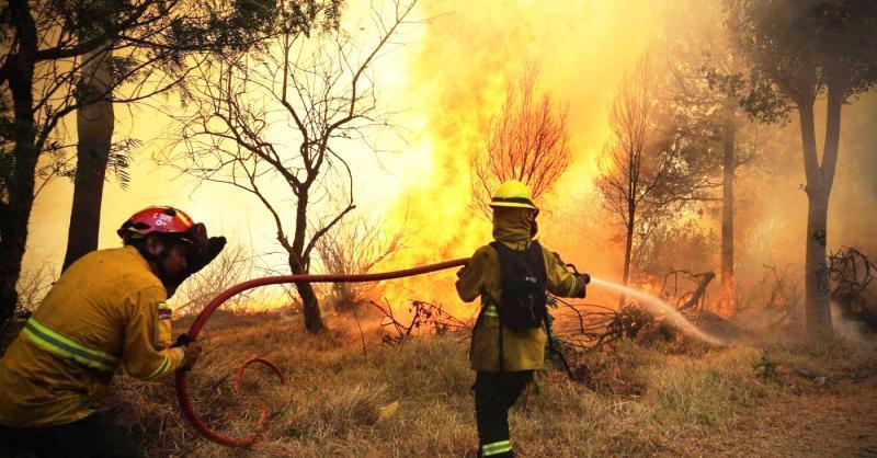 Abruzzo devastato dagli  incendi. Foto repertorio