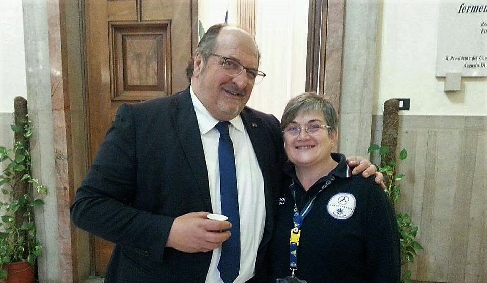Da sin. il Sottosegretario Mazzocca e la Dott.ssa Chiorazzo