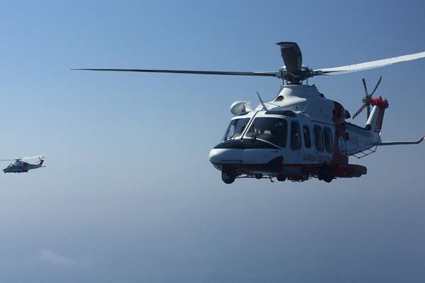 Elitrasporto sanitario di emergenza da parte della Guardia Costiera: intervento fra Livorno e Portoferraio