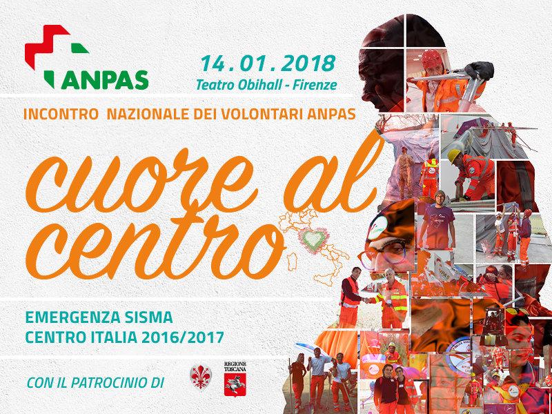 Cuore al centro: aperte le iscrizioni per l'incontro nazionale dei volontari Anpas