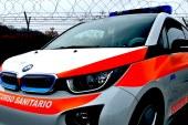 A bordo della BMW i3 di AREU