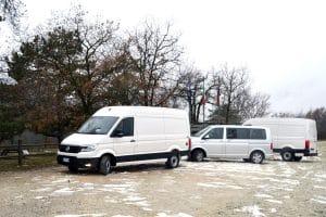 volkswagen crafter e transporter T& mobilityLAB