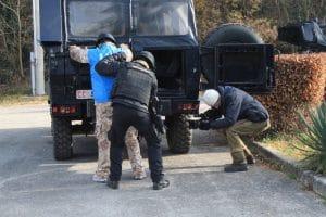 Un momento dell'addestramento previsto per il personale FAO che si deve occupare di sicurezza e controllo in aree critiche
