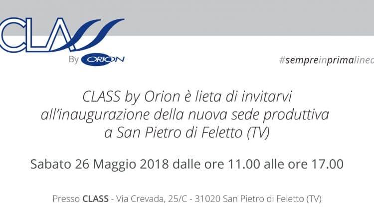 class by orion inaugurazione