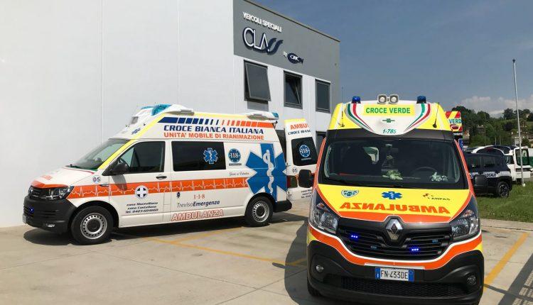 ambulanza renault trafic e volkswagen T6