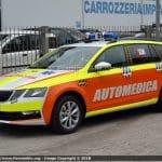 Automediche in Romagna, le prime Skoda Octavia in esclusiva con Fiammeblu   Emergency Live 11