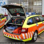 Automediche in Romagna, le prime Skoda Octavia in esclusiva con Fiammeblu   Emergency Live 16
