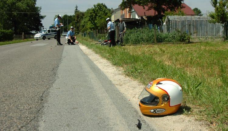 INCIDENTE CADUTA MOTOCICLISTA SAN SAVINO DI FUSIGNANO (RA)