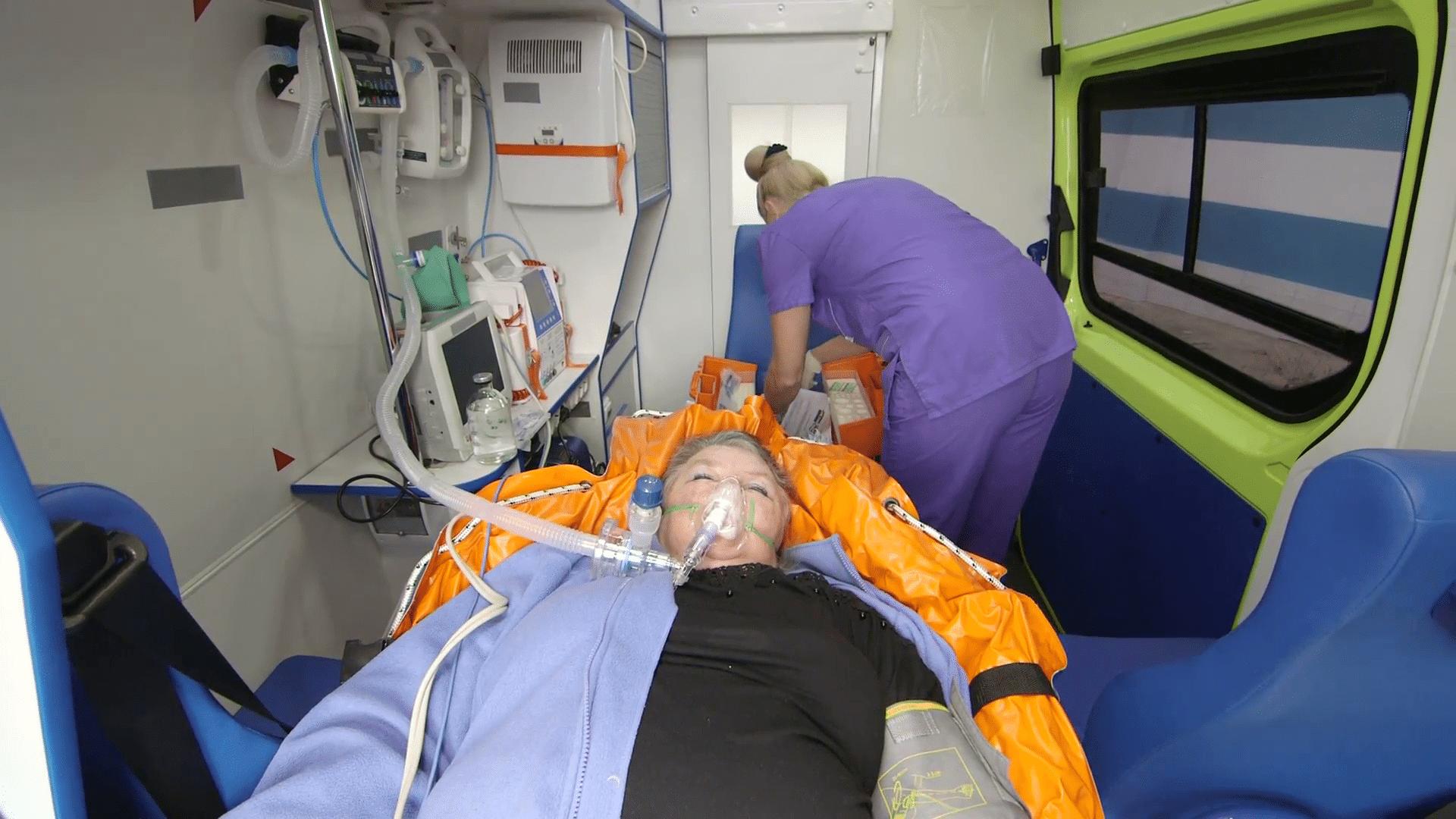 medical care and palliative care on ambulance