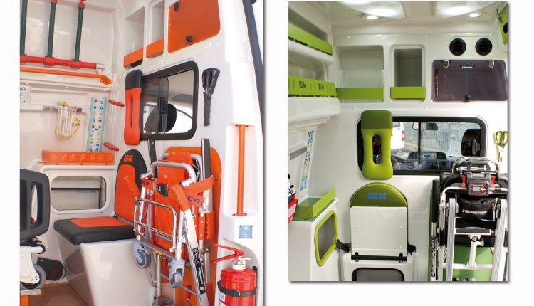 Interni volkswagen T6 ambulanza