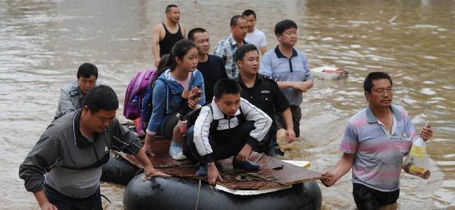 Dramatic rainfall hits south of China: 2 dead and 2 missing