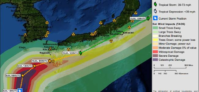 Typhoon Neoguri estimated impacts on Japan – LIVE TWEET
