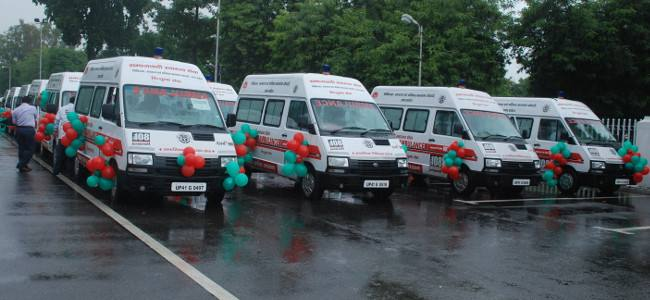 INDIA: 800 ambulances will be flagged off in January