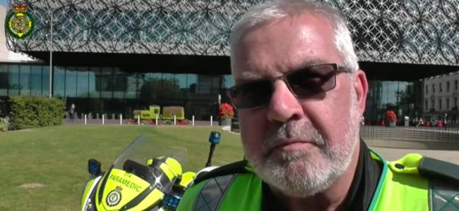 "Steve, ""The"" Emergency Biker of Birmingham retire after 36 years"