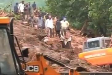 Landslide hit an indian village, 17 died