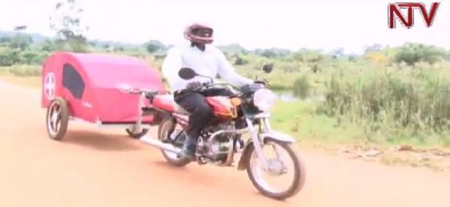 Uganda's poorest villages and the new moto-ambulance trailer