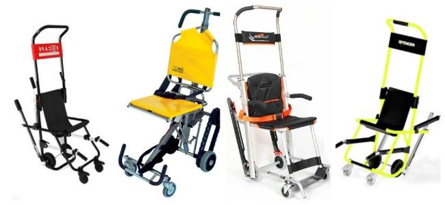 Evacuation chairs. A comparison sheet to check out the strengths of each model at a glance