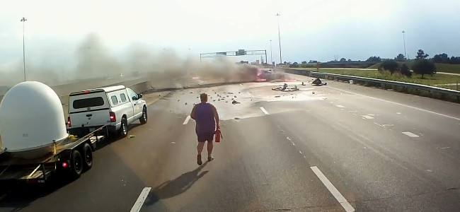 Trucker Hero Rescues Family After Crash and Explosion