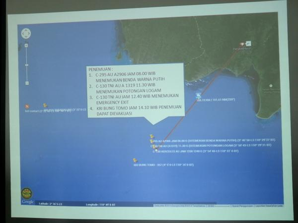 AirAsia QZ8501 flight debries resumed near the island of Borneo
