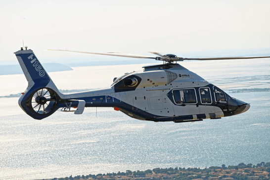 Airbus Helicopters H160: first flight ok, entrance in service planned for 2018