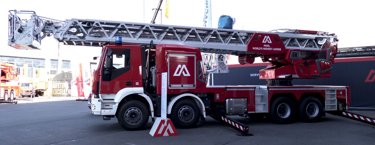 M68L, the highest turntable ladder in the world by Magirus