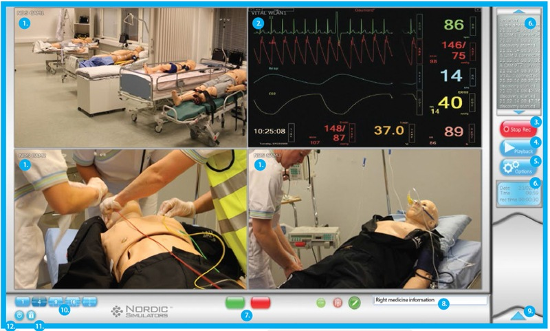 Nordic Solution, simulator recorder with live vital sign monitoring