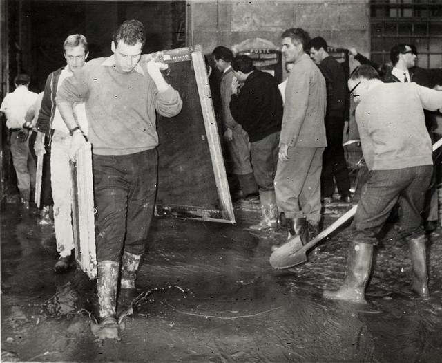 Flood-firenze-uffizi-1966