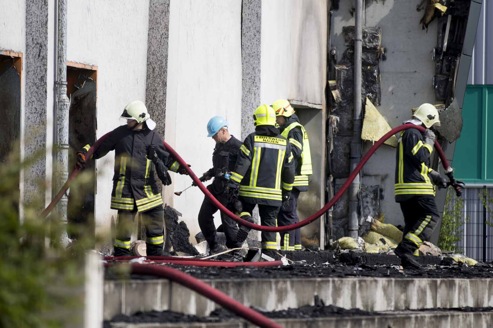 Fire in a refugee accomodation in the south west of Germany: Arson or blaze?
