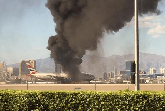 Boeing 777 on fire at McCarran Airport, Las Vegas