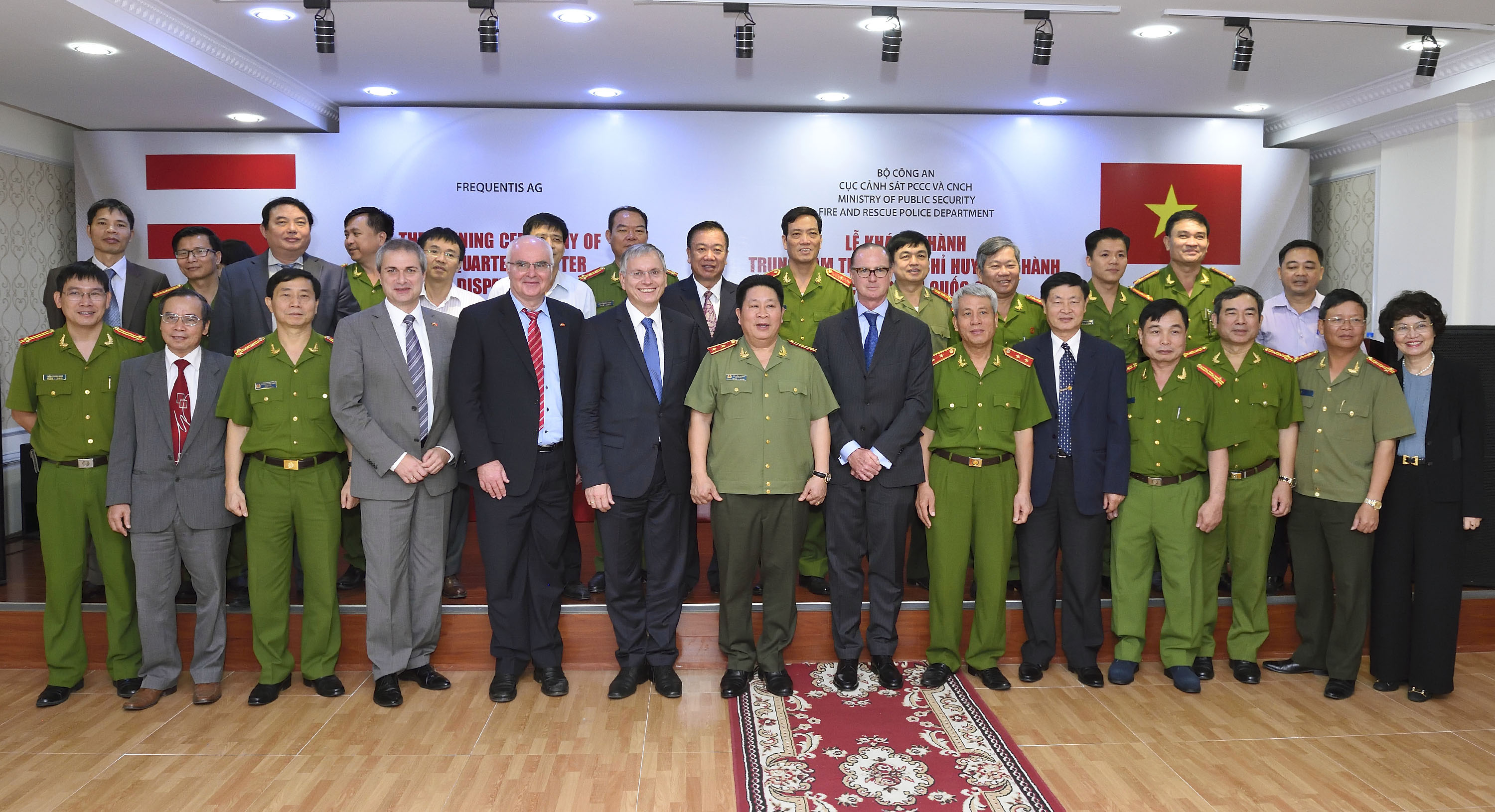 Austrian Federal Minister Alois Stöger inaugurates Fire Brigade Dispatch Center in Vietnam