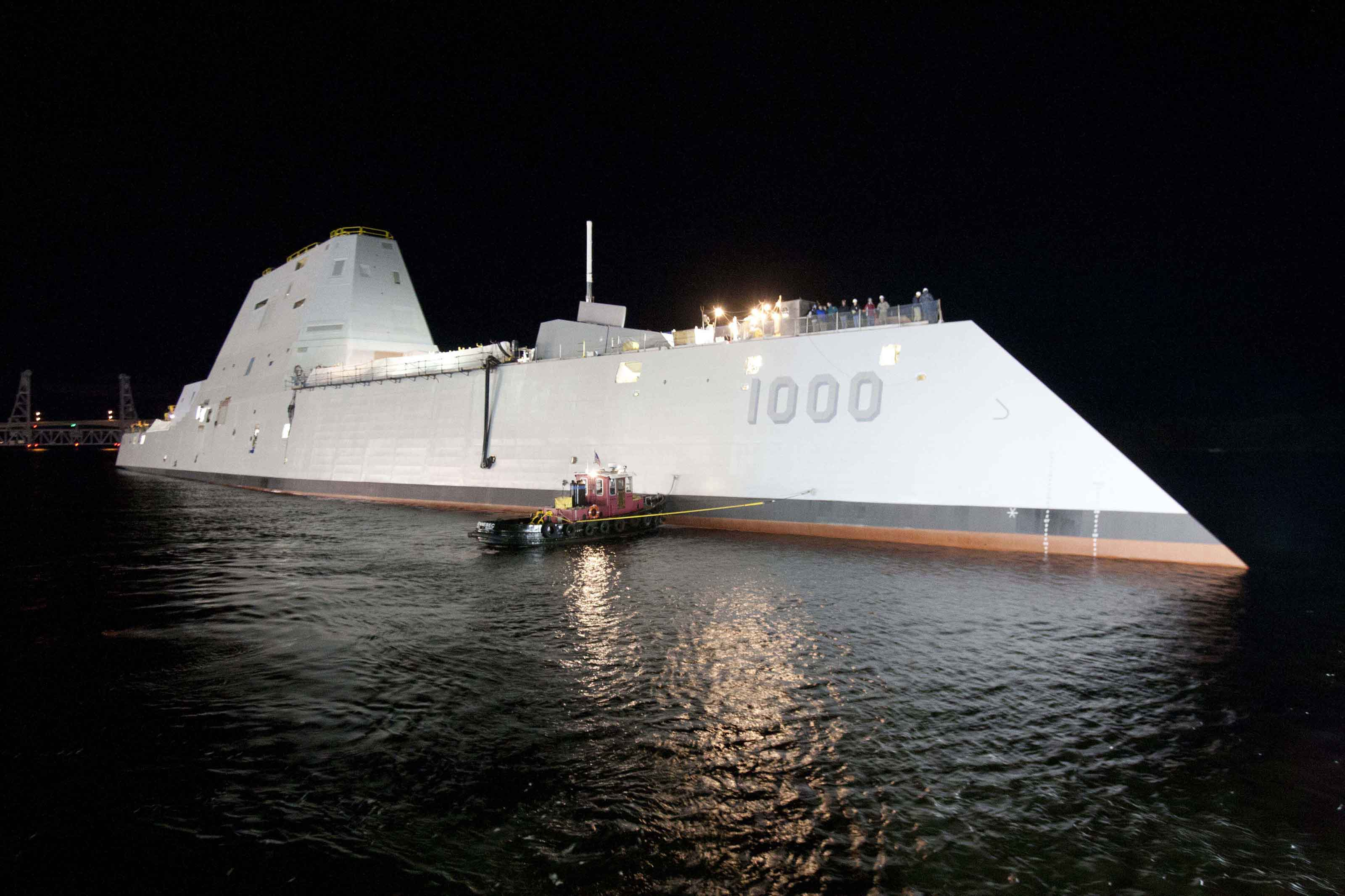 Navy's new Zumwalt destroyer rescues ailing fishing boat captain