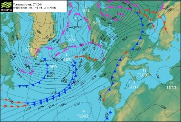 Severe warming for strong winds in northern Britain